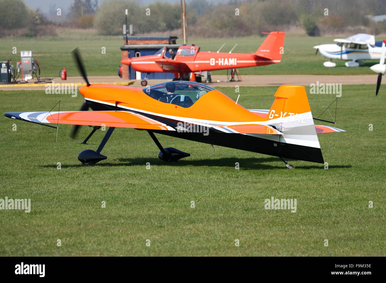 XtremeAir Sbach 342 at White Waltham Airfield ready for take off - Stock Image