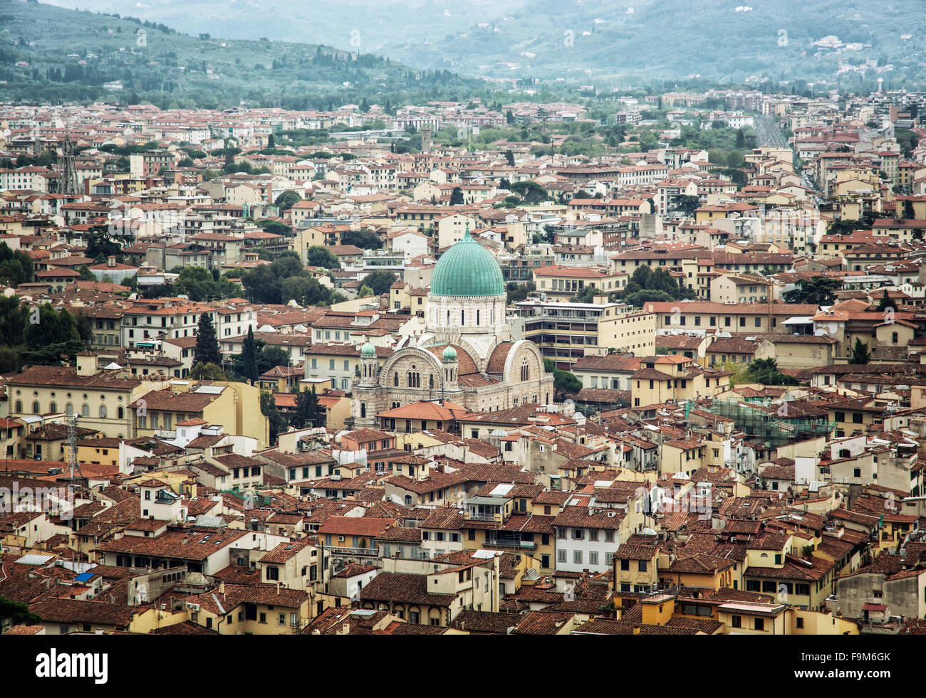 Great synagogue of Florence, Tuscany, Italy. Cultural heritage. Urban scene. Stock Photo