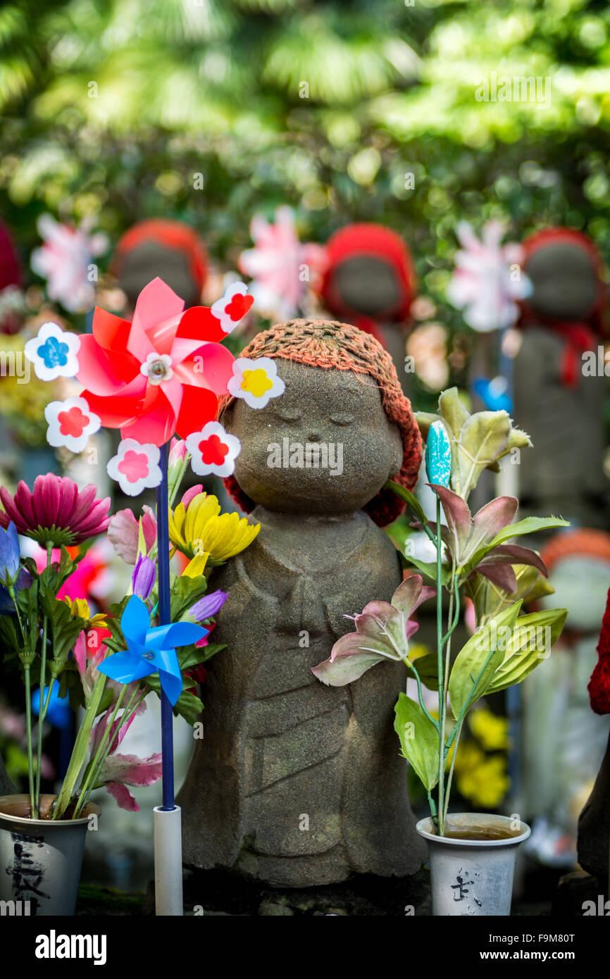Zojo Ji Shrine in Tokyo - Stock Image