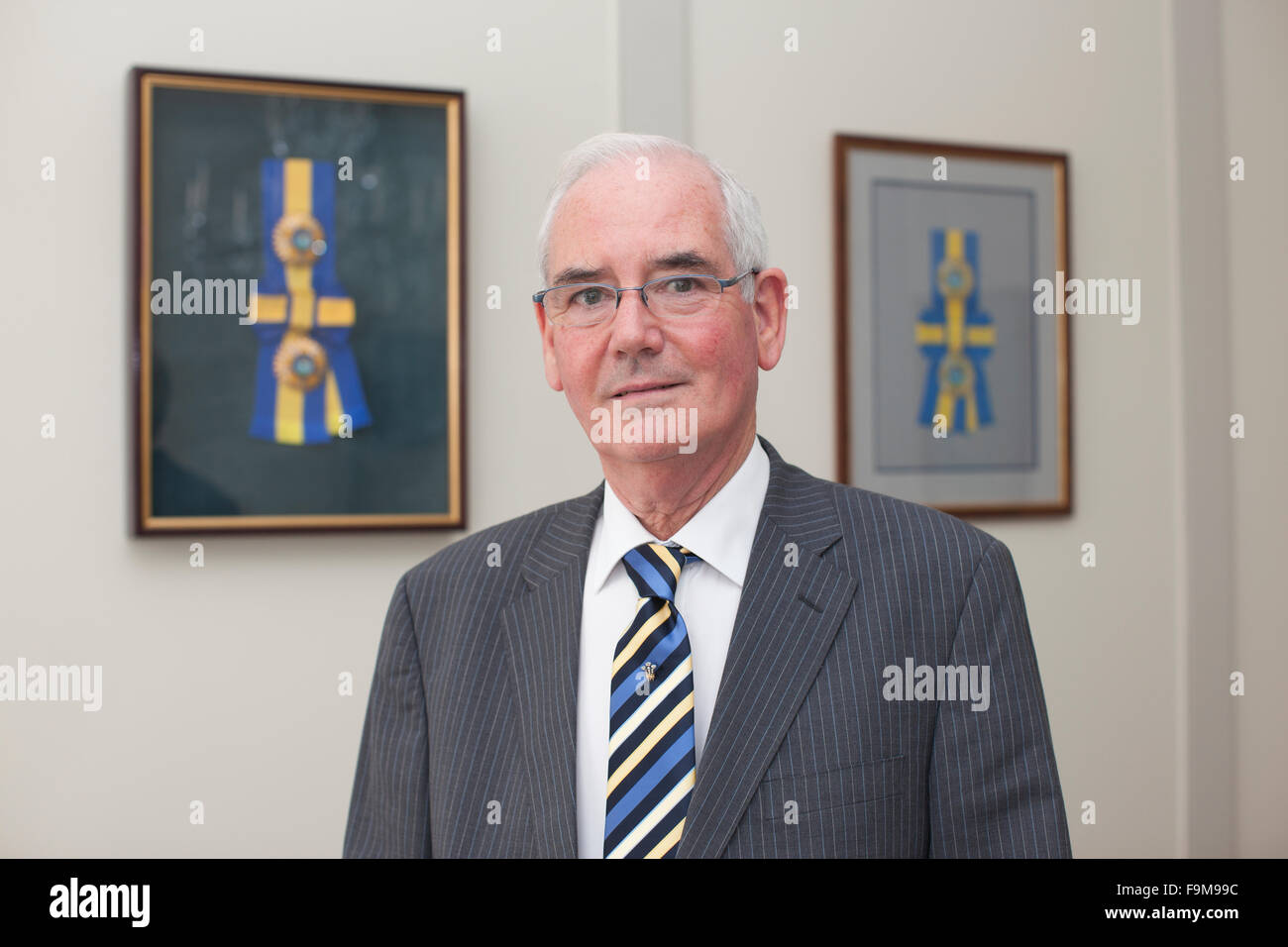 David V Thomas, Former Crown Jeweller, to the British Royal Family, responsible for the Crown Jewells and jewellery - Stock Image