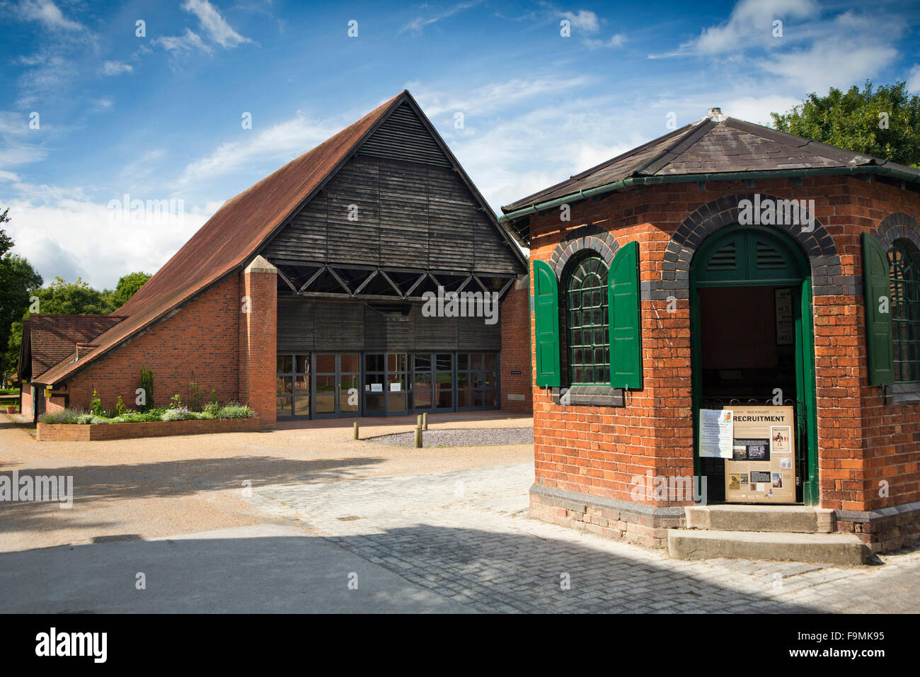UK, England, Worcestershire, Bromsgrove, Avoncroft Museum of Historic Buildings, New Guesten Hall and Counting House - Stock Image