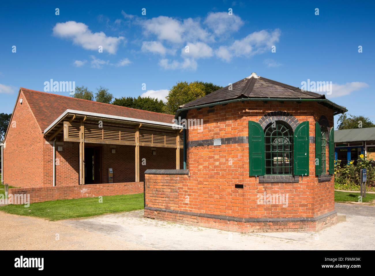 UK, England, Worcestershire, Bromsgrove, Avoncroft Museum, Counting House and exhibition hall - Stock Image