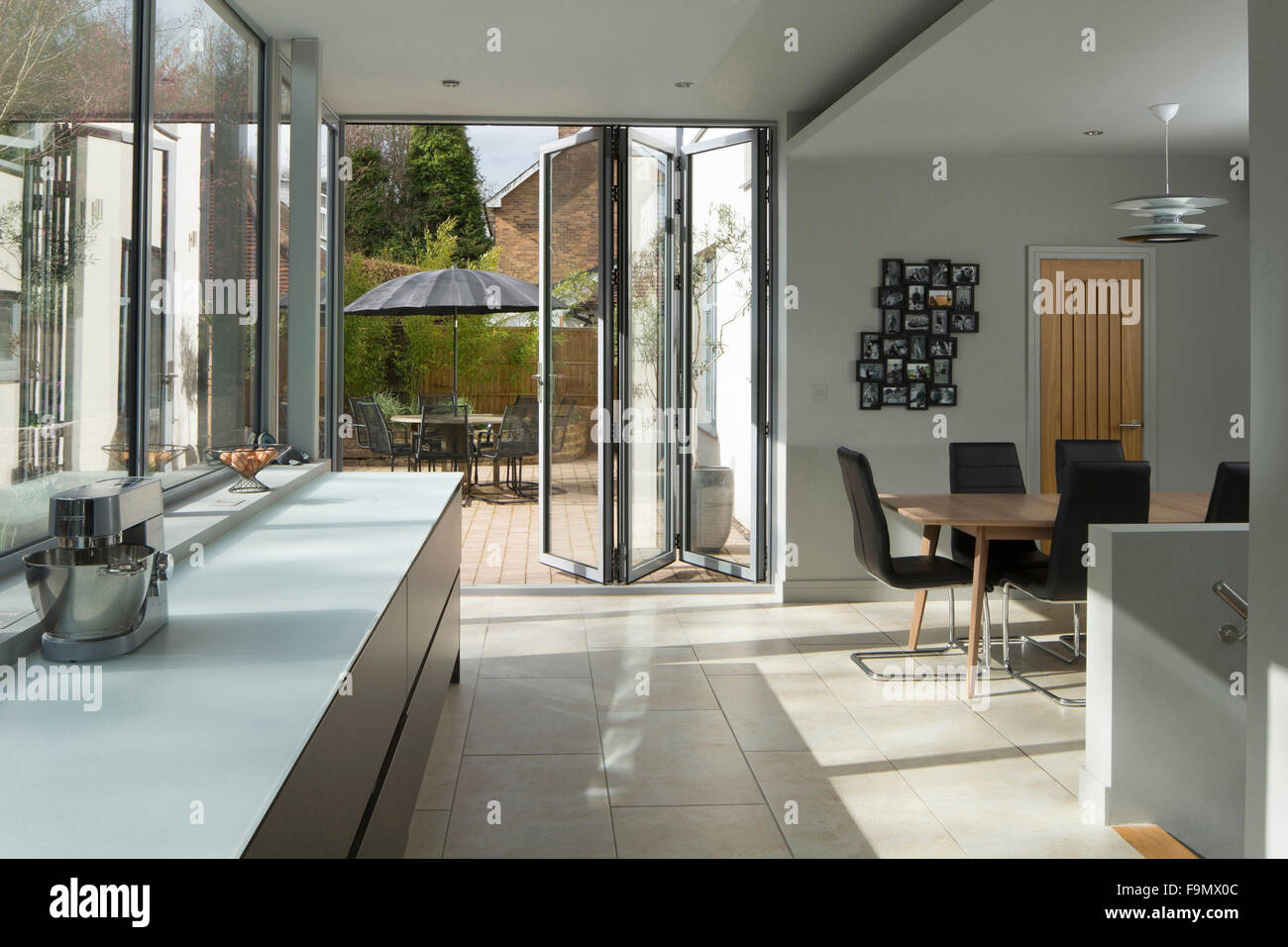 Open Plan Living Area A Kitchen With Bi Fold Doors To A