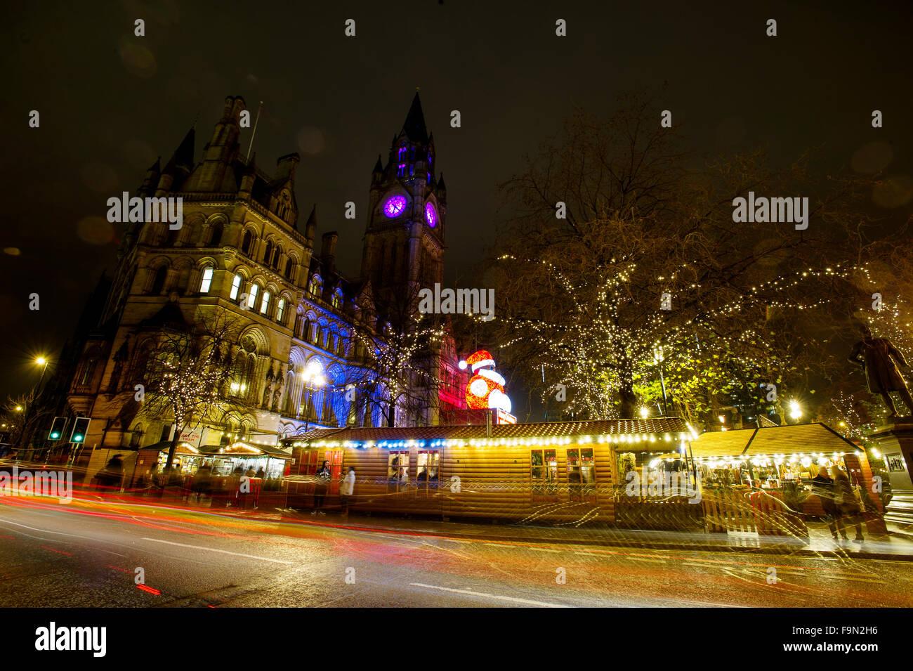 Manchester Christmas Markets Stock Photos & Manchester
