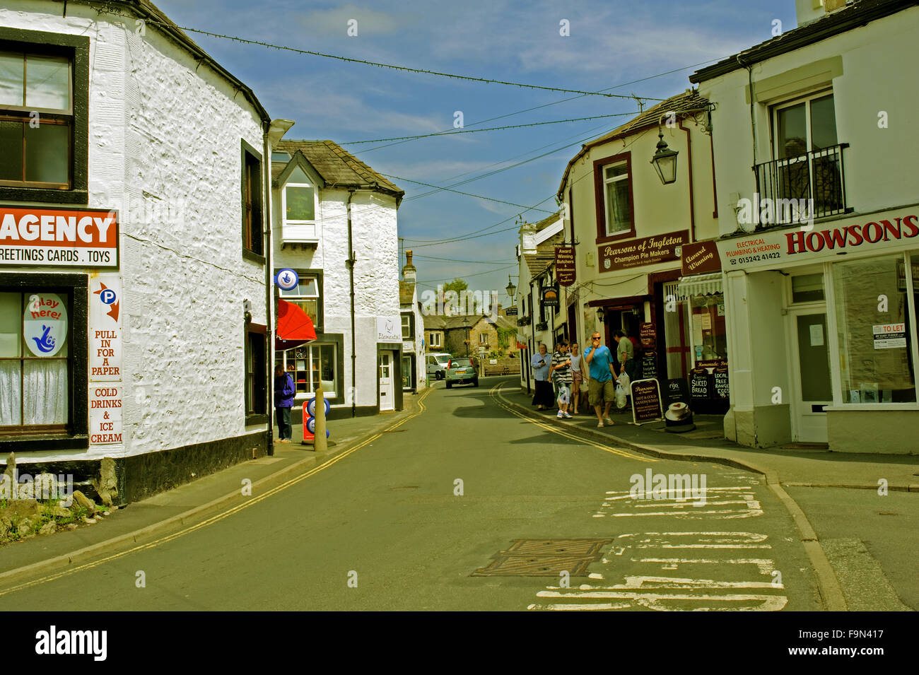 Ingleton, North Yorkshire - Stock Image