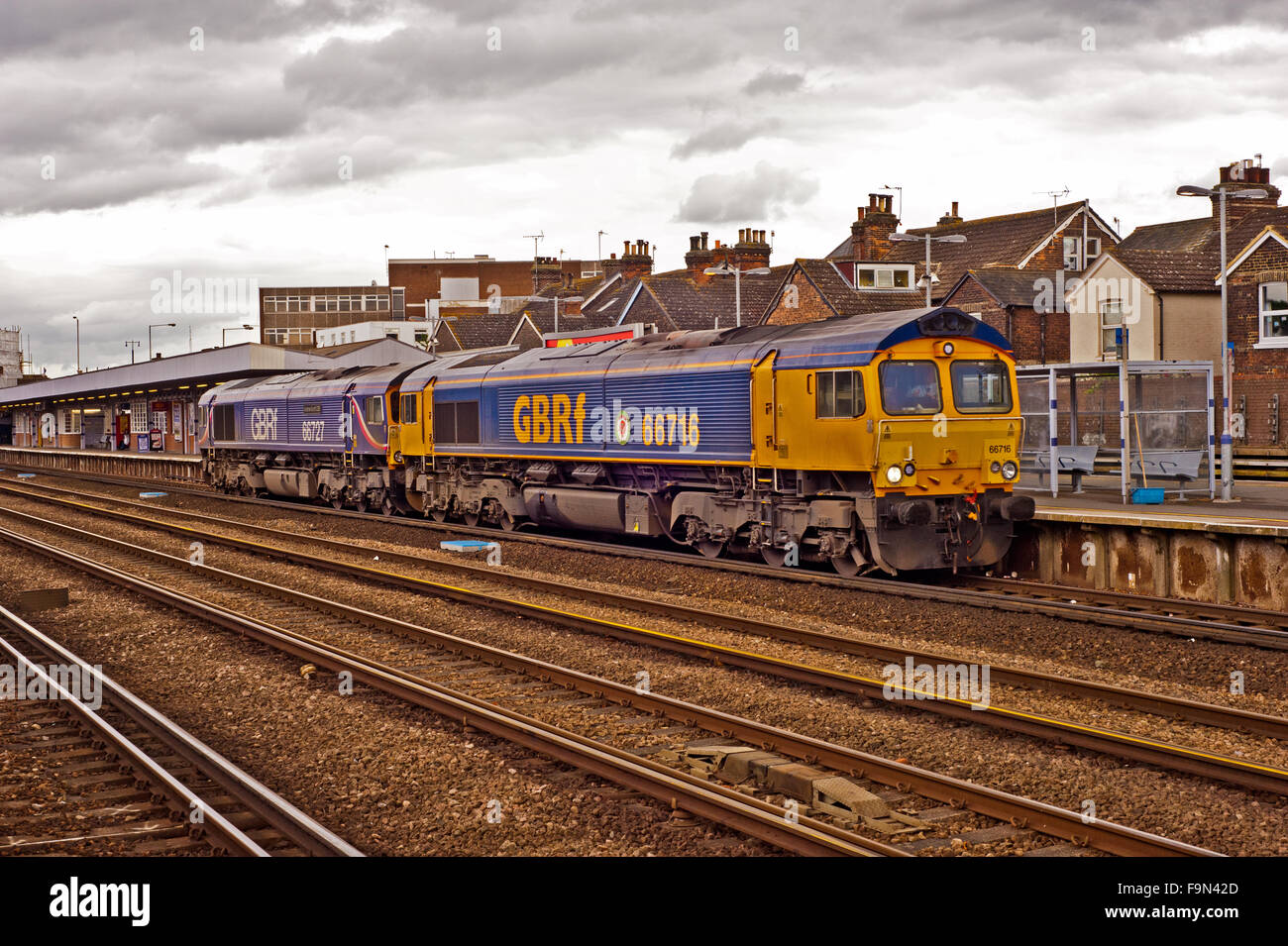 Deisels at Tonbridge in Kent - Stock Image