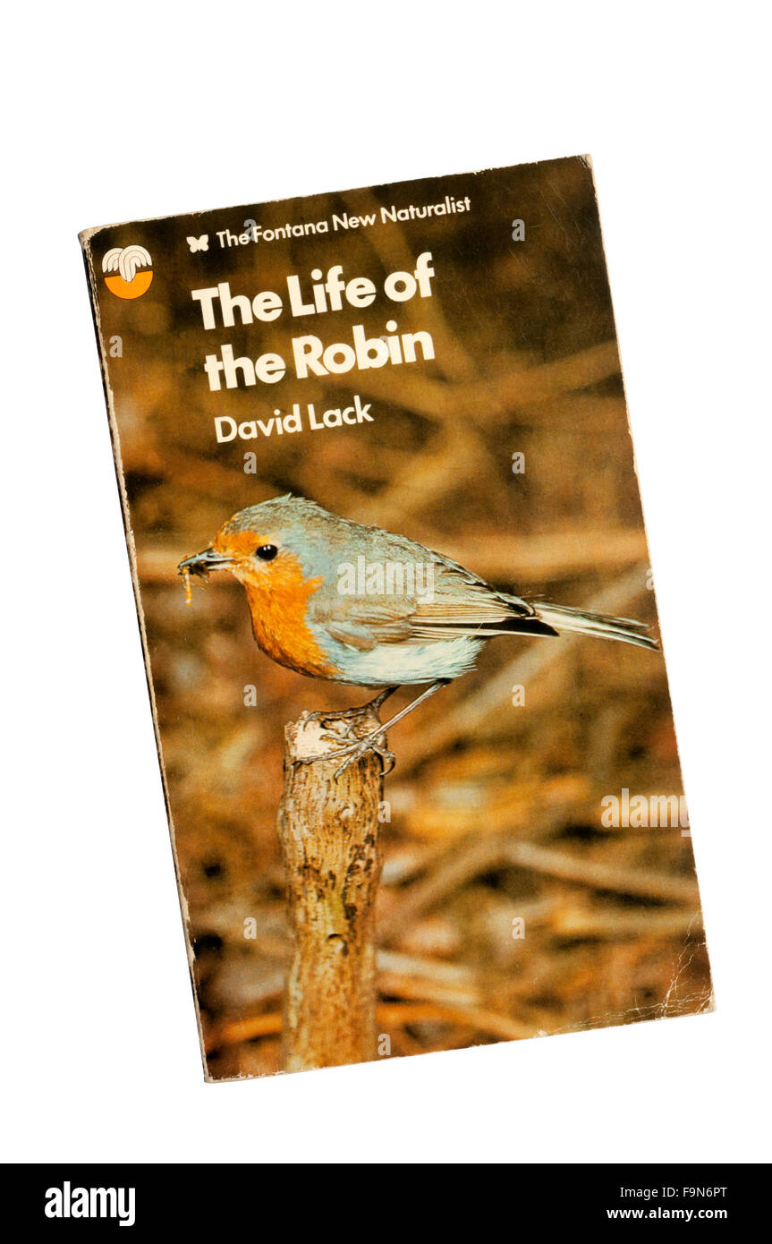 A paperback copy of The Life of the Robin, by David Lack.  First published in 1965. - Stock Image