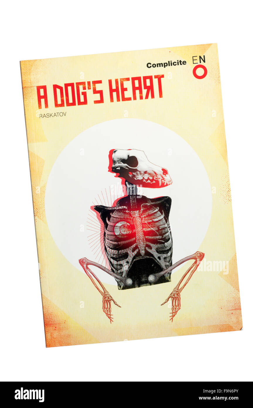 Programme for the 2010 English National Opera production of A Dog's Heart by Alexander Raskatov at The London - Stock Image