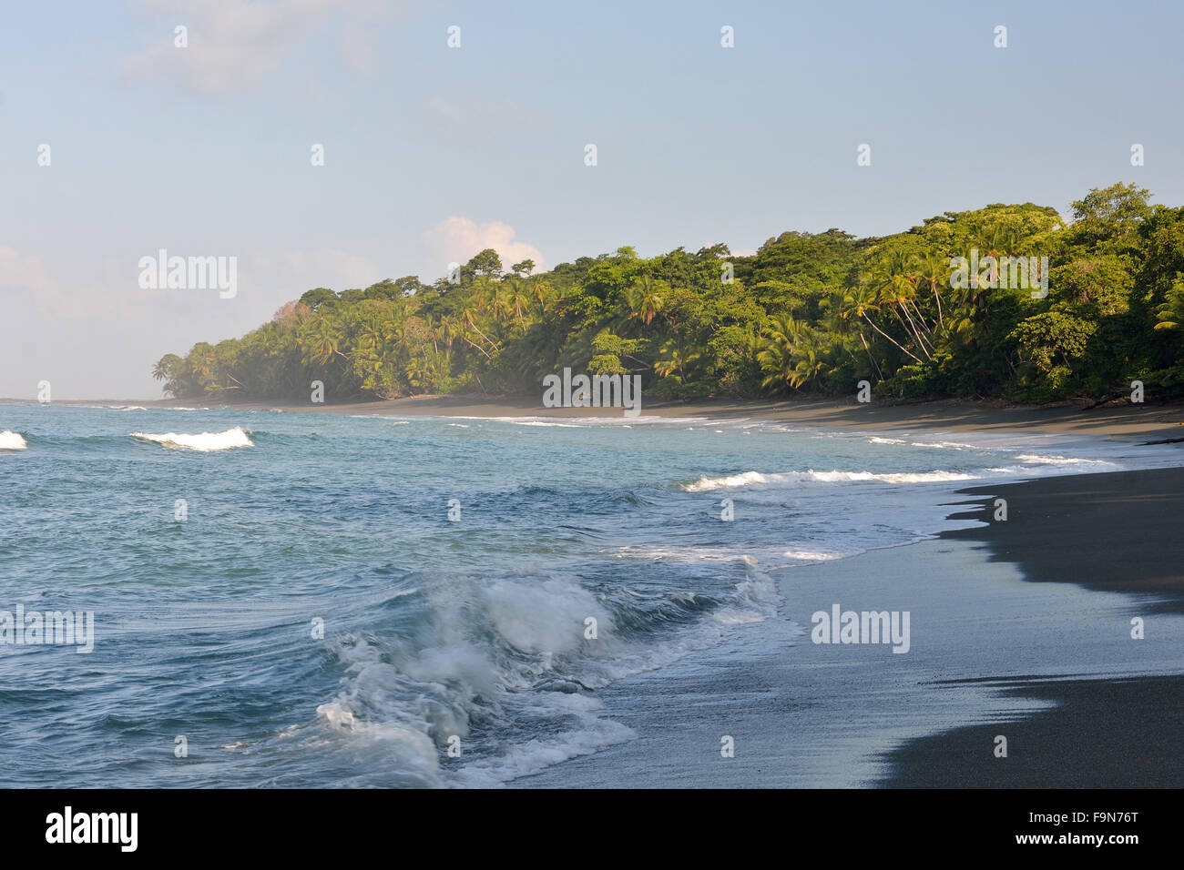 Beach in Corcovado National Park Costa Rica Stock Photo