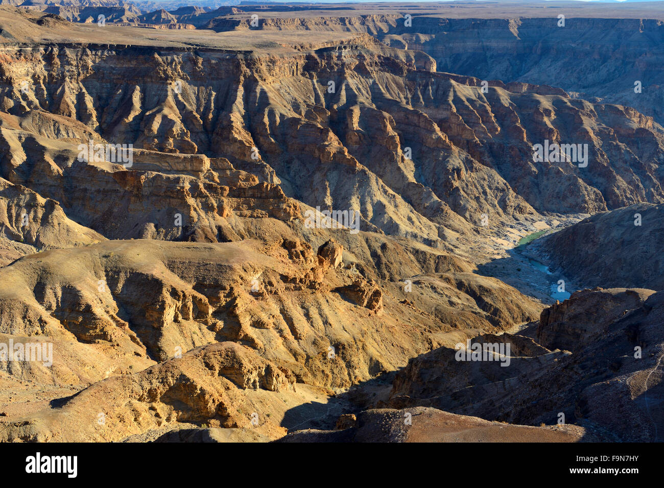 Fish River Canyon from viewpoint, Karas District, Namibia - Stock Image