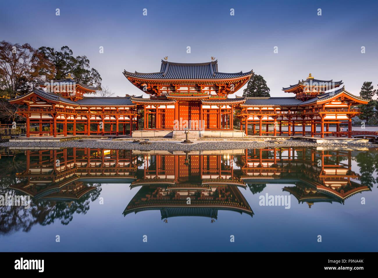 Uji, Kyoto, Japan at Byodo-in's Phoenix hall. - Stock Image
