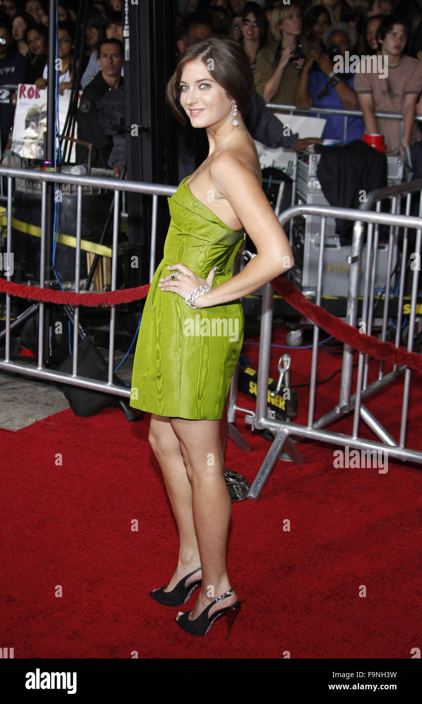 WESTWOOD, CALIFORNIA - Monday November 16, 2009. Justine Wachsberger at the Los Angeles premiere of 'The Twilight - Stock Image