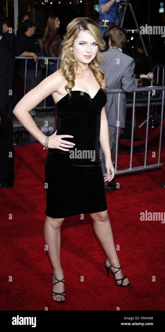 WESTWOOD, CALIFORNIA - Monday November 16, 2009. Kristen Prout at the Los Angeles premiere of 'The Twilight - Stock Image