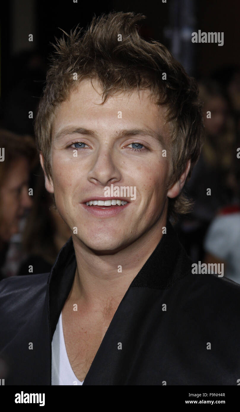 WESTWOOD, CALIFORNIA - Monday November 16, 2009. Charlie Dewley at the Los Angeles premiere of 'The Twilight - Stock Image