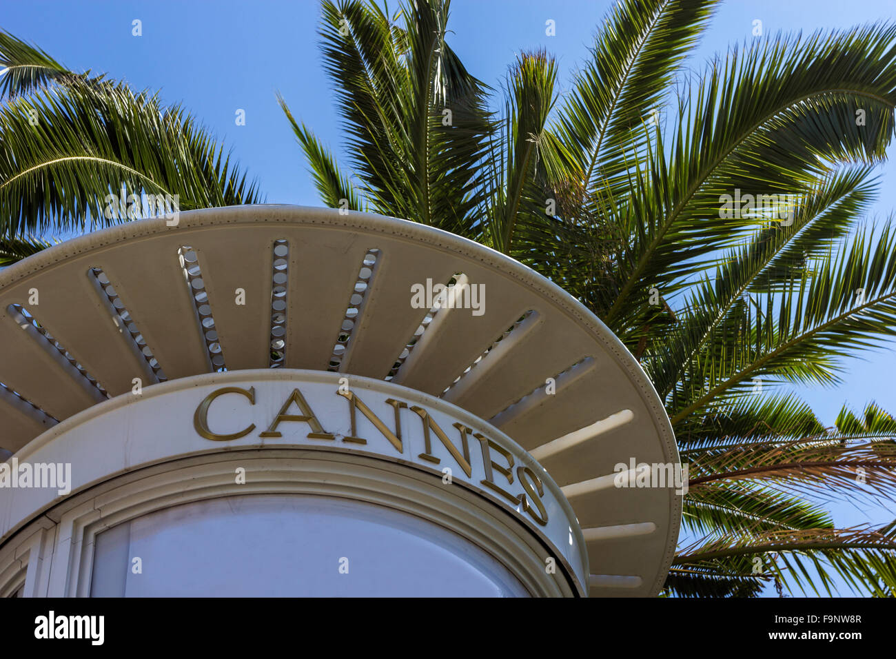 Cannes on French Riviera - Stock Image