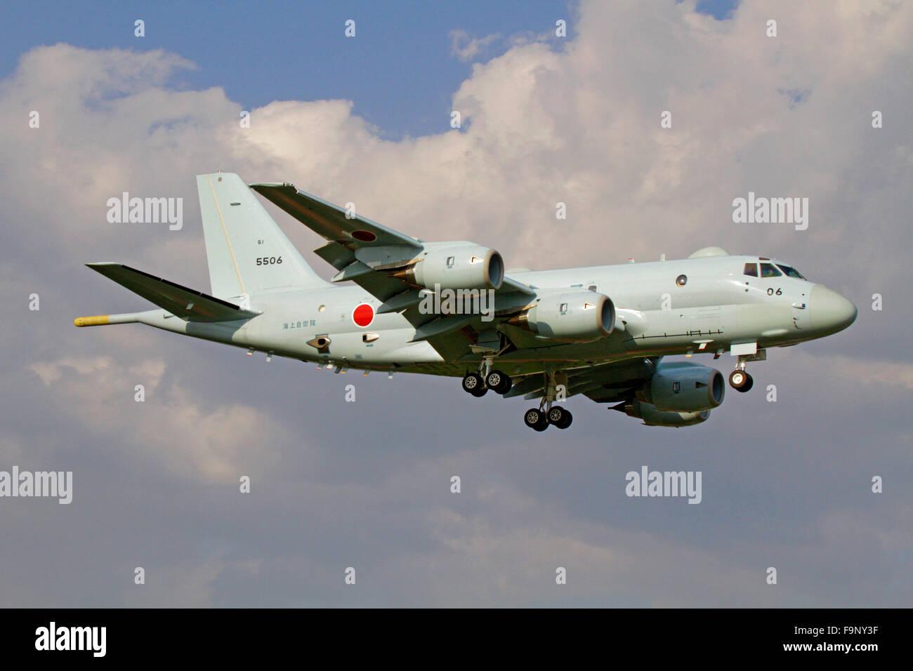 The Kawasaki P-1 maritime patrol aircraft of JMSDF - Stock Image