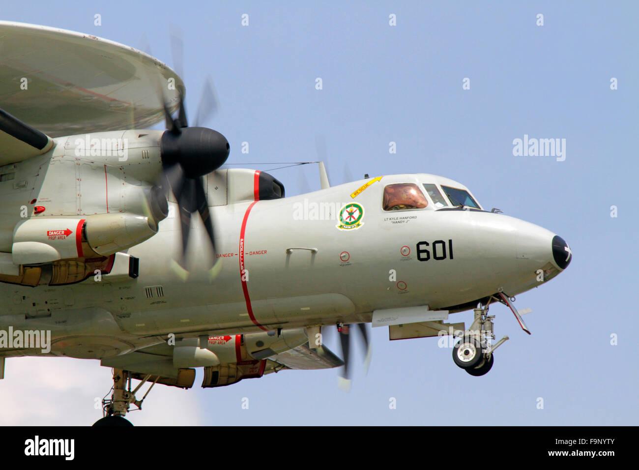 Northrop Grumman E-2D Advanced Hawkeye of US Navy - Stock Image