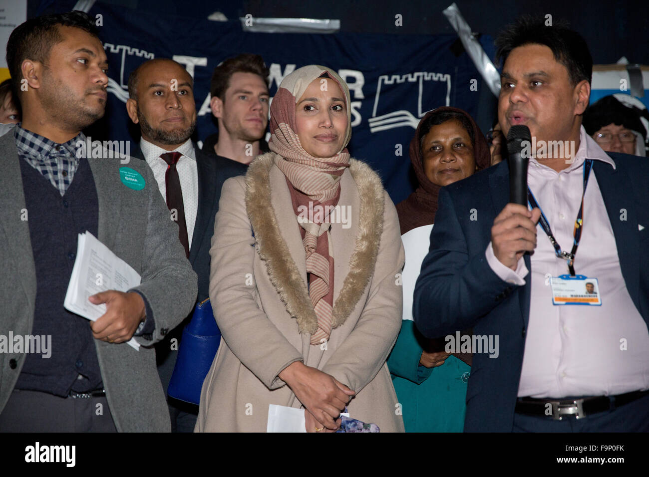 London, UK. 17th December, 2015. Shafi Ahmed, council member of the Royal College of Surgeons, addresses the Christmas - Stock Image