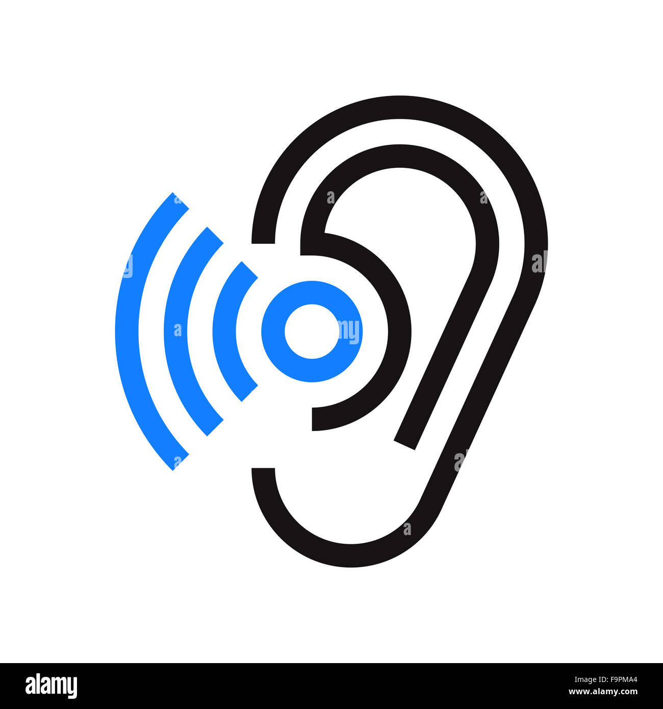 Hearing Aid On Ear Icon Stock Photos Hearing Aid On Ear Icon Stock