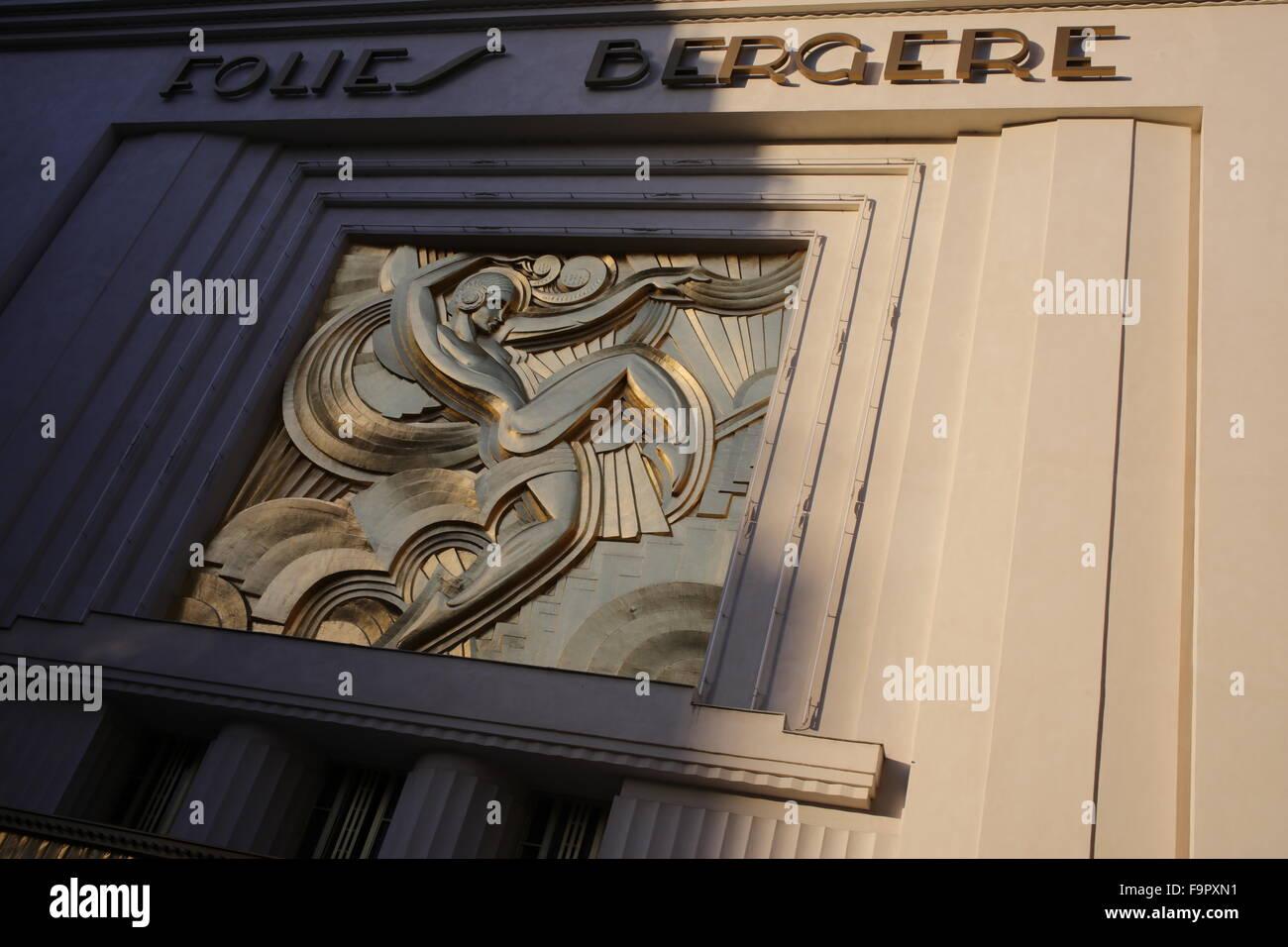 The Folies Bergère - rue Richer - 9th arrondissement - Paris - France - Stock Image