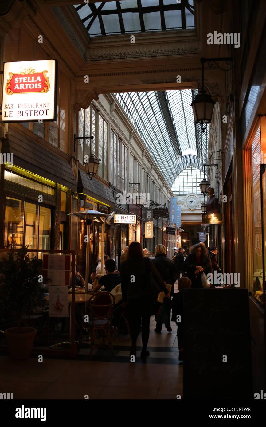 Passage Verdeau between 6 rue de la Grange-Batelière and 31 bis rue du Faubourg-Montmartre - 9th arrondissement - Stock Image