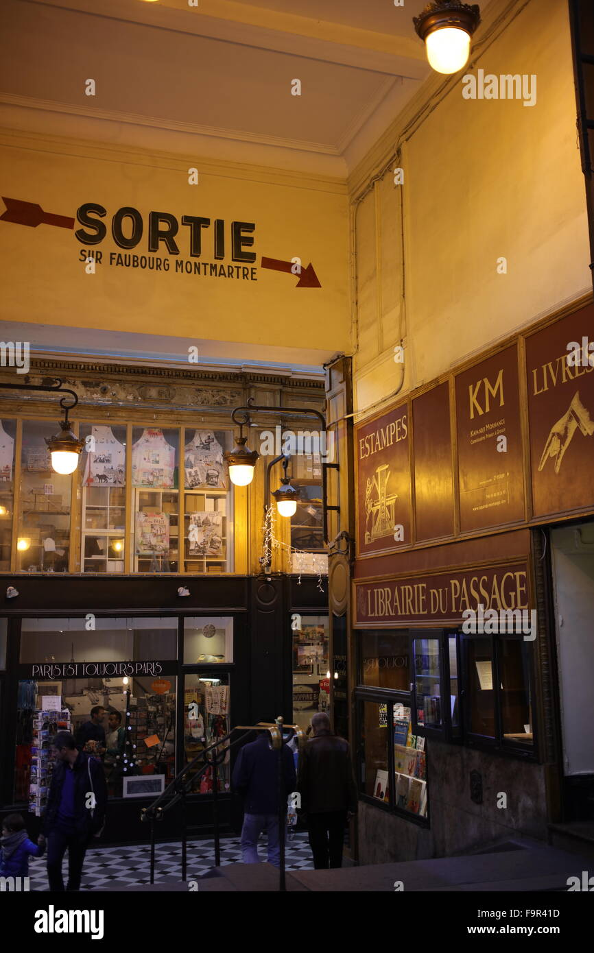 Passage Jouffroy between 10-12 boulevard Montmartre et 9 rue de la Grange-Batelière - 9th arrondissement - - Stock Image