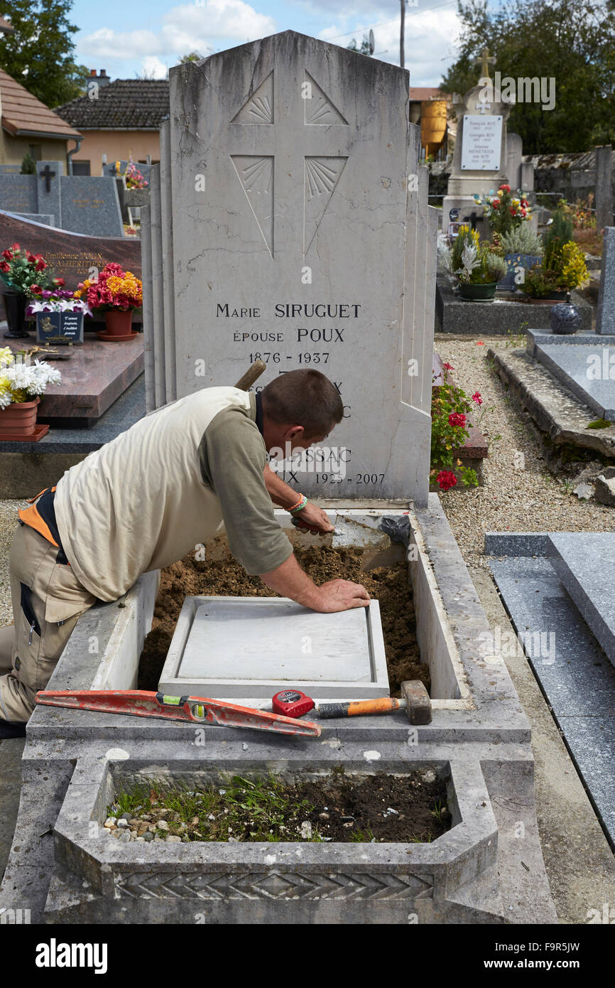 Grave digger. - Stock Image