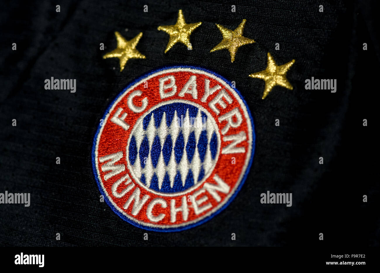 A jerseys with the logo of German Bundesliga soccer club