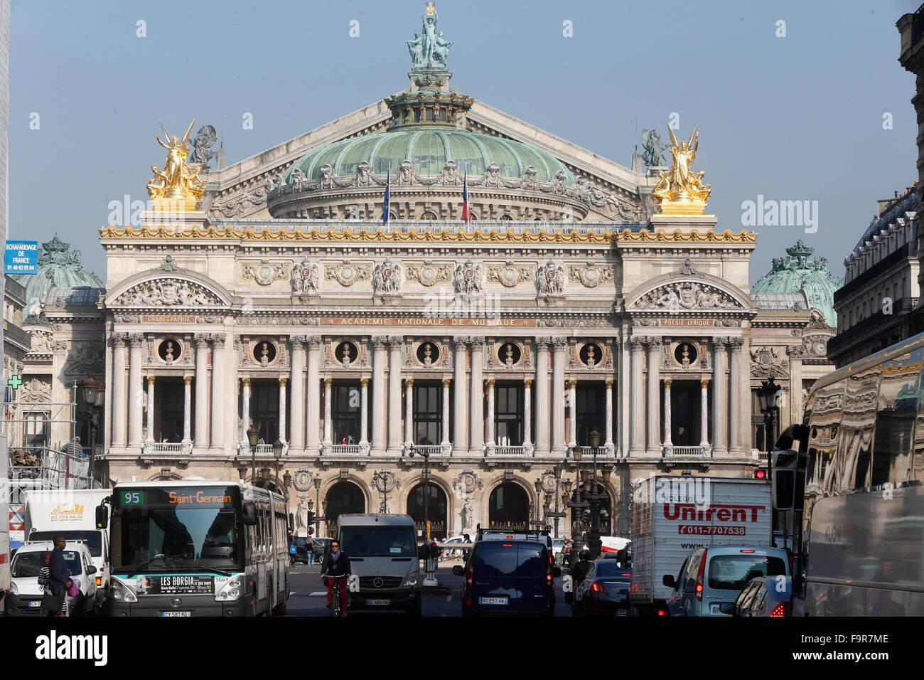 Palais Garnier. Paris Opera. - Stock Image
