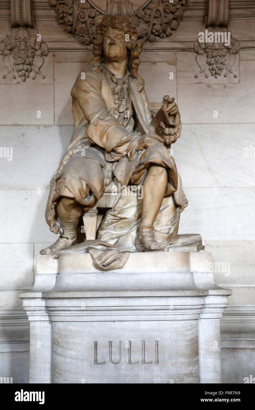 Palais Garnier. Paris Opera. Jean-Baptiste Lully. - Stock Image