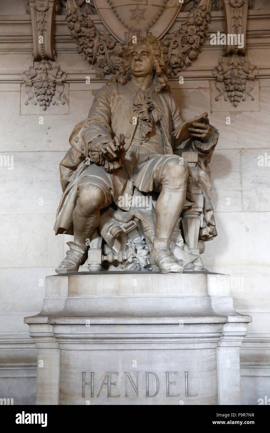 Palais Garnier. Paris Opera. Georg Friedrich Haendel. - Stock Image
