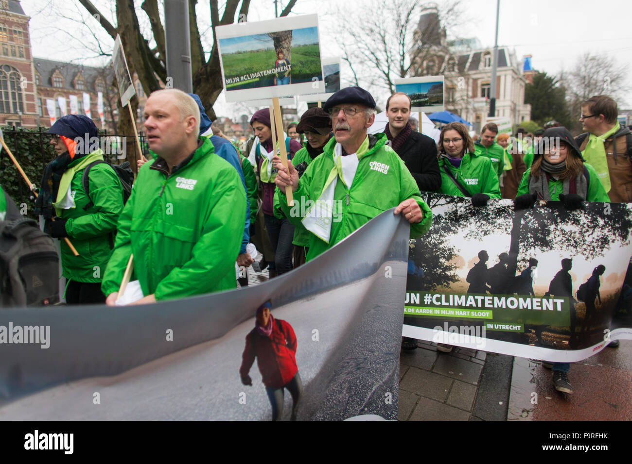 Several thousand protesters demonstrated  today (29 nov 2015) in Amsterdam against the current climate policy. Next - Stock Image