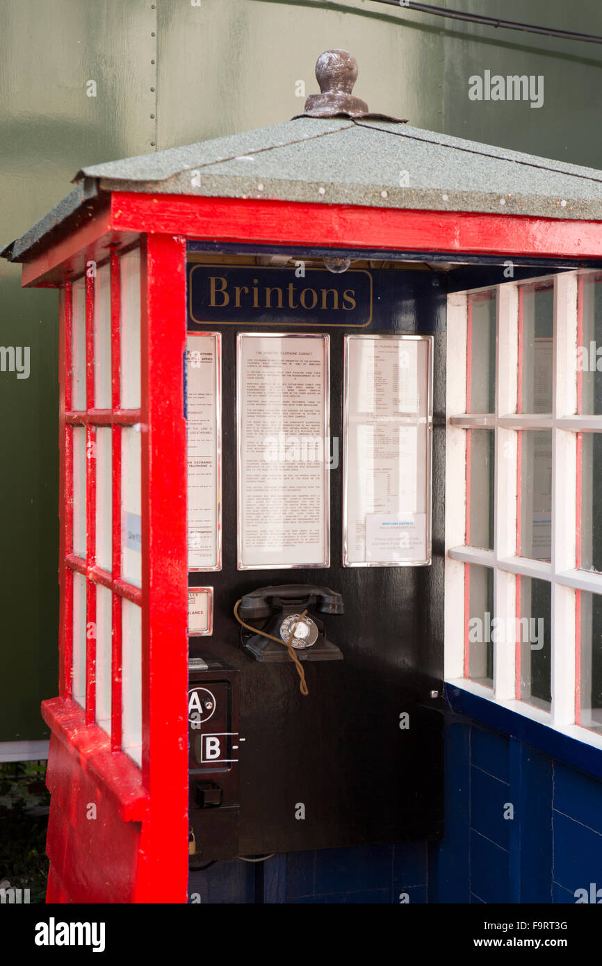 UK, England, Worcestershire, Bromsgrove, Avoncroft Museum, National Telephone Kiosk Collection, Brintons Private - Stock Image