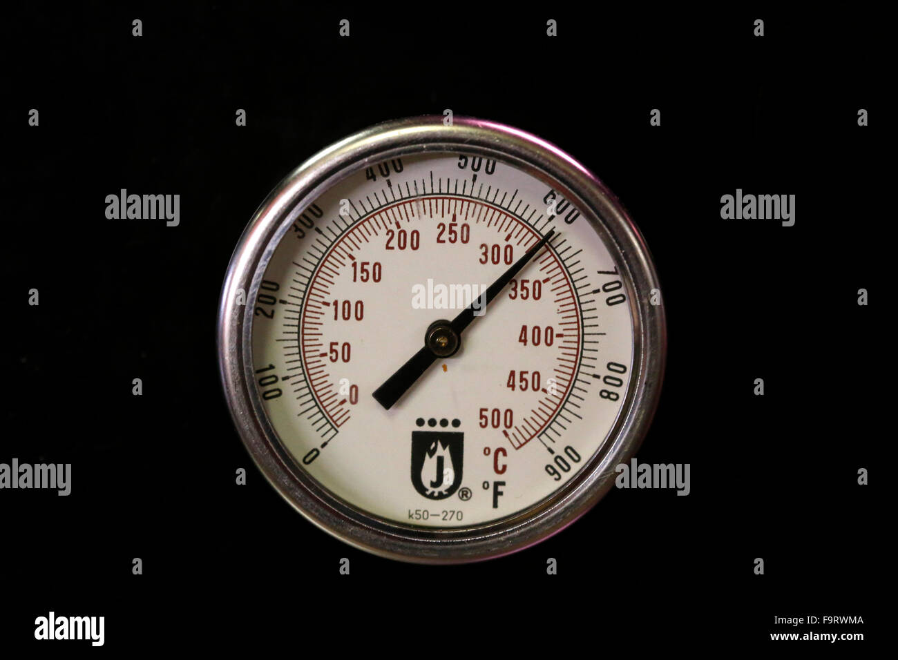 Oven thermometer. - Stock Image