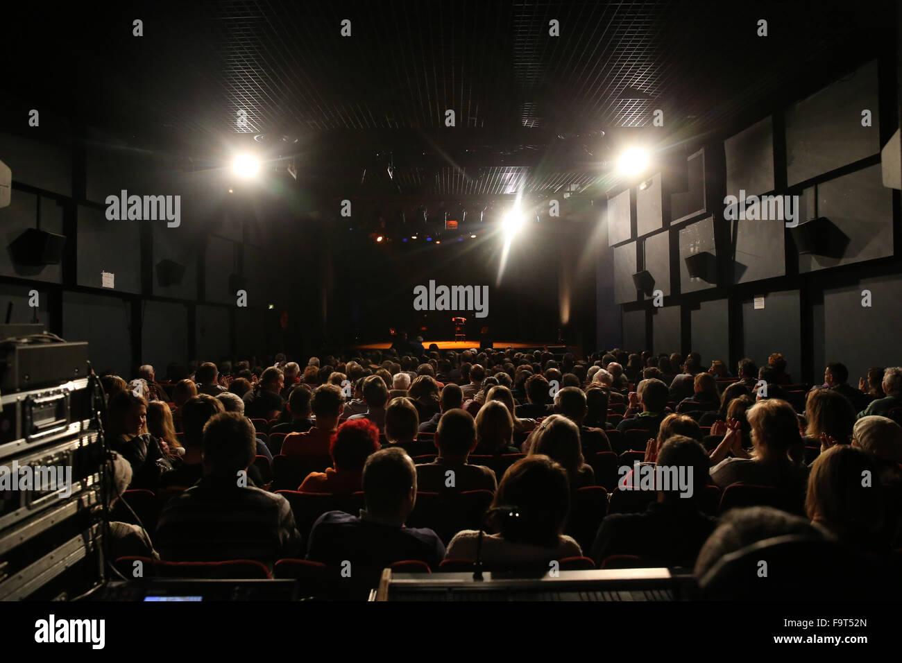 Mont-Blanc Humour festival 2015. - Stock Image