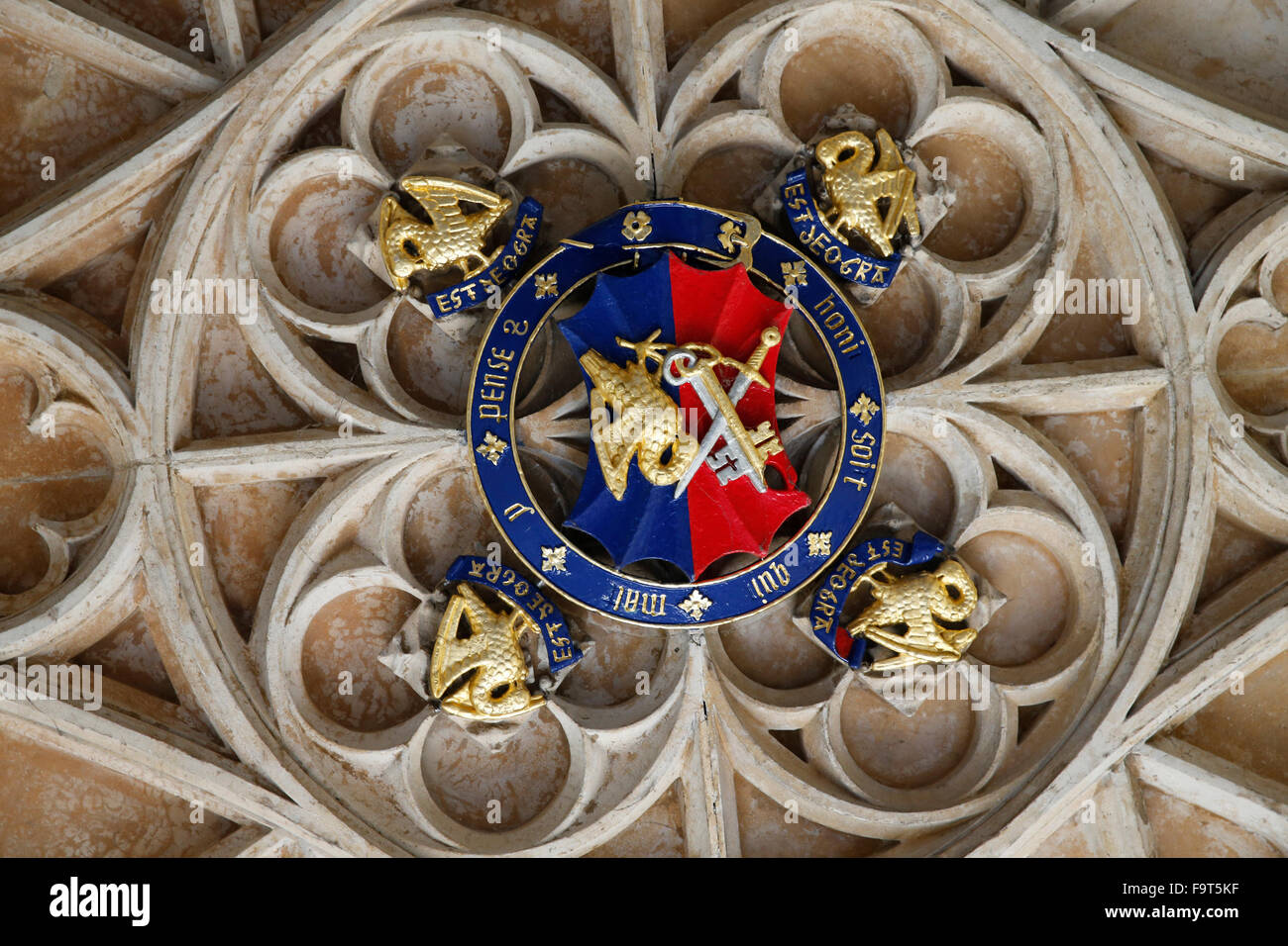 Corpus christi college, Oxford. Porch celing. - Stock Image