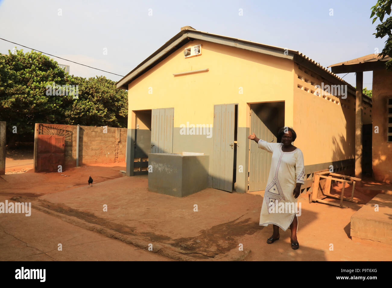 The latrines. School renovated by The Chain of Hope NGO. - Stock Image
