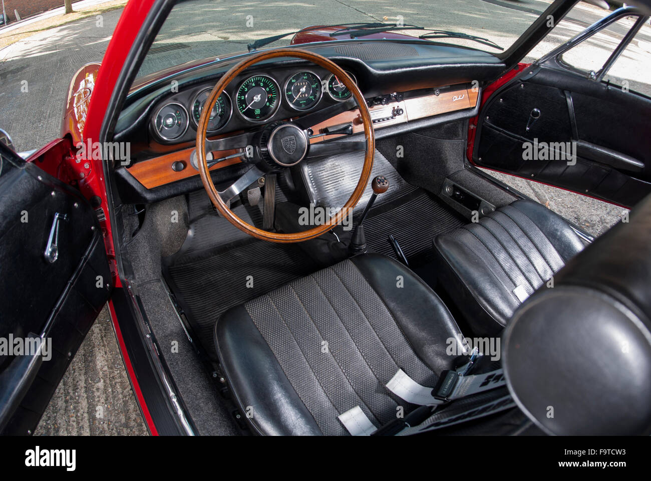 1966 Porsche 911 Classic German Air Cooled Sports Car Interior Stock Photo Alamy