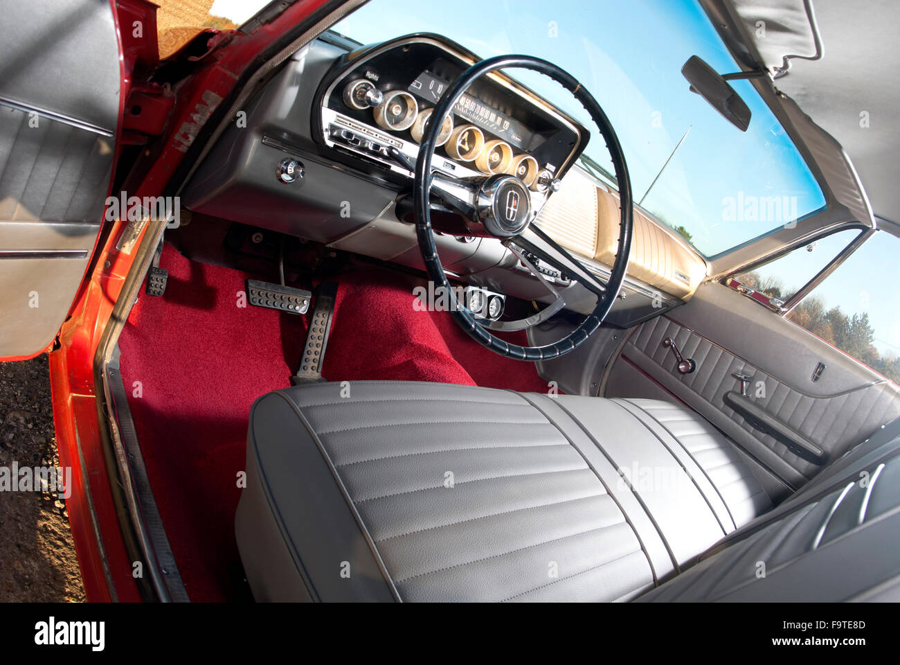 1962 Dodge Dart American Car Interior Stock Photo Alamy