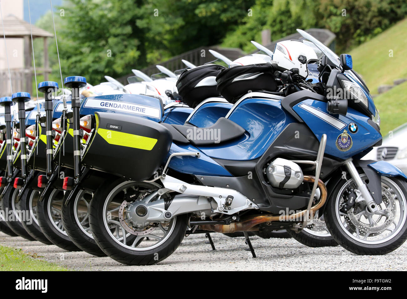 French police motorcycles. - Stock Image