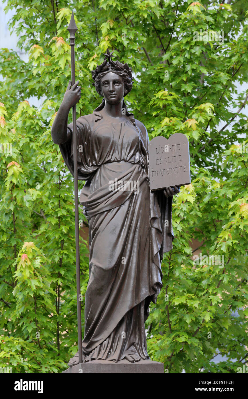 French Republic allegorical statue. - Stock Image