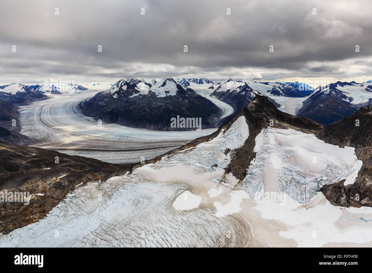 Skagway, Alaska. Meade Glacier, Tongass National Forest. - Stock Image