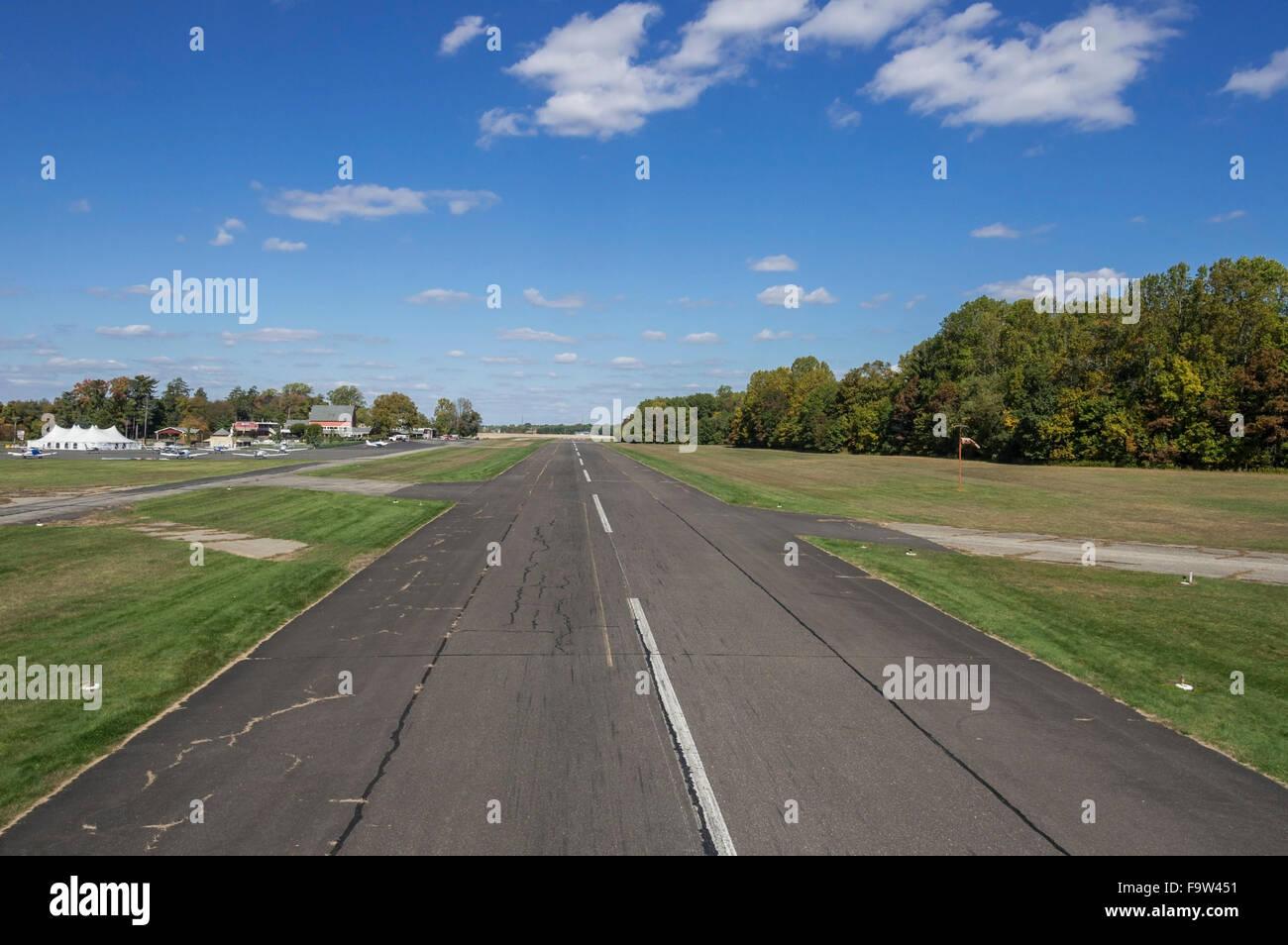 Small Regional Airport Runway - Stock Image