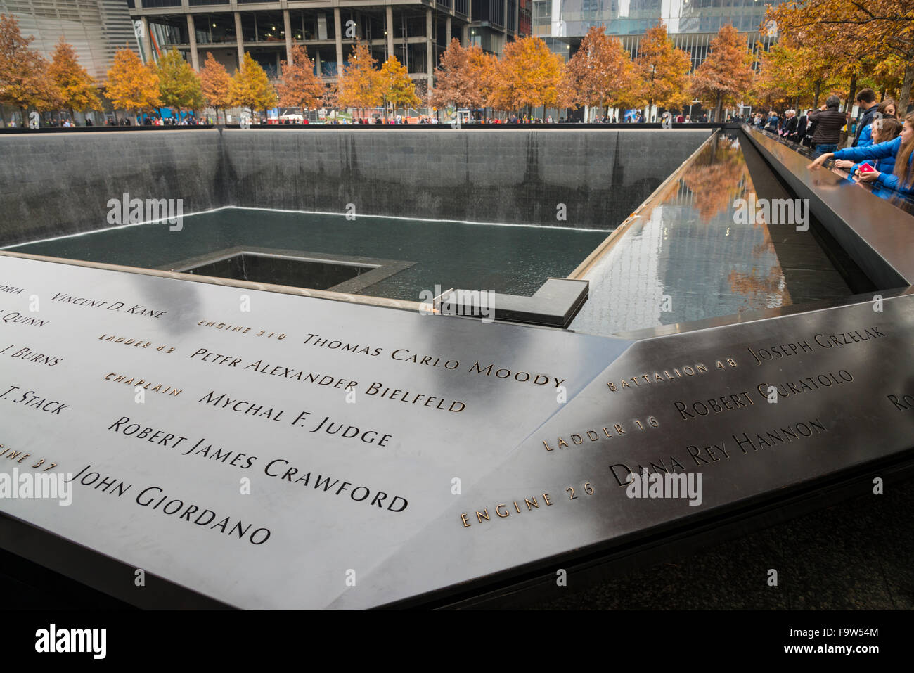 World Trade Center 9/11 Memorial, New York, USA - Stock Image