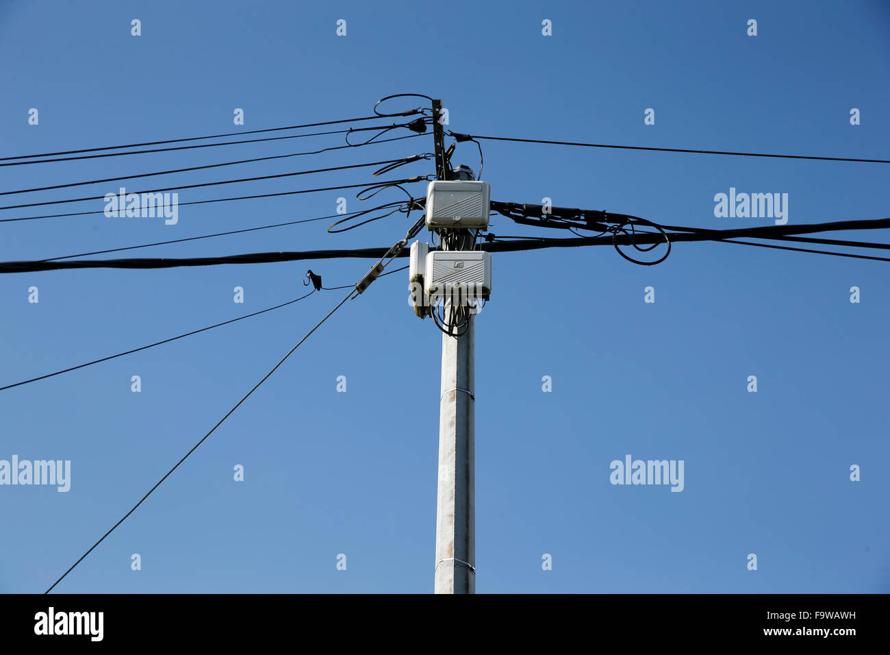 Electrical wiring. - Stock Image