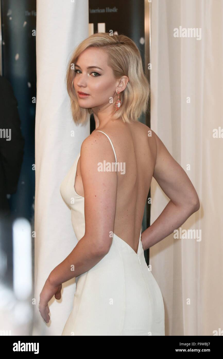 NEW YORK-DEC 13: Actress Jennifer Lawrence attends the 'Joy' premiere at the Ziegfeld Theatre on December - Stock Image