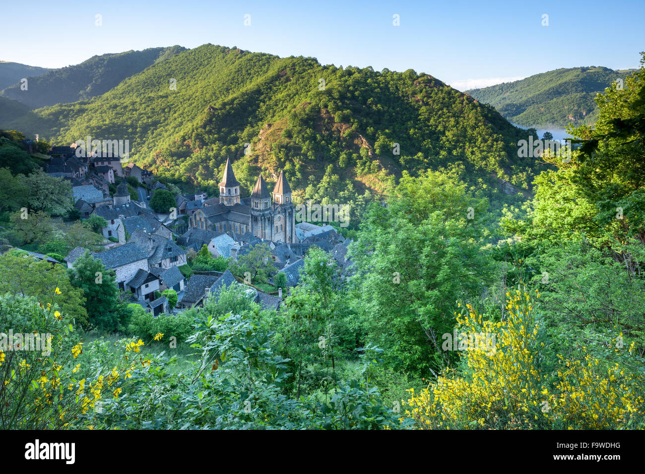The village of Conques France - Stock Image