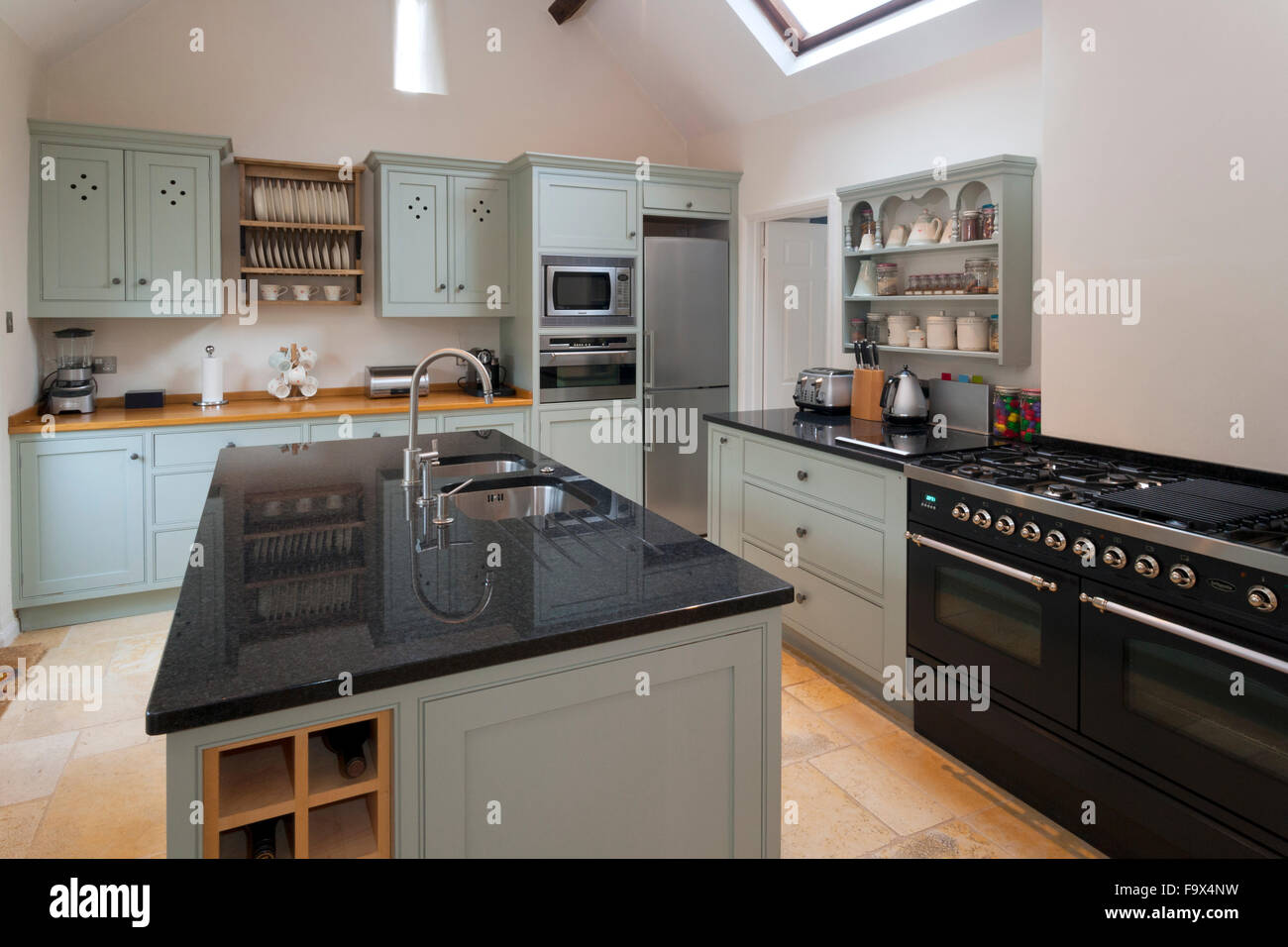 Contemporary kitchen. - Stock Image