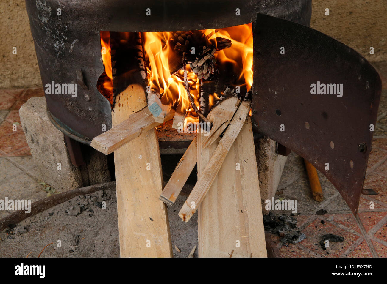 Cooking oven. - Stock Image
