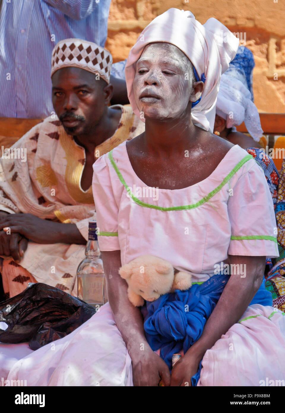 Ewe people participating in a Tron vodun (voodoo) ceremony